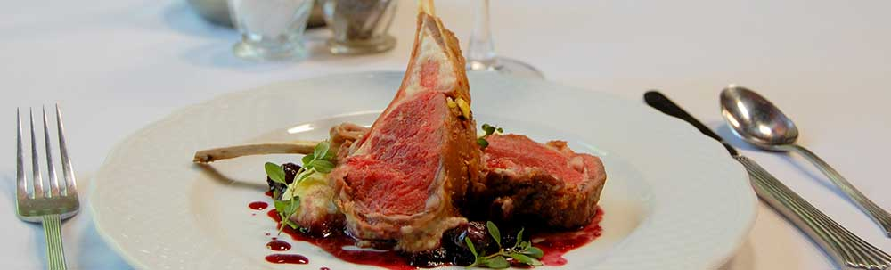Provence herb crusted roast rack of lamb