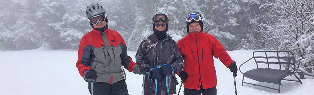 Skiing with friends at Killington